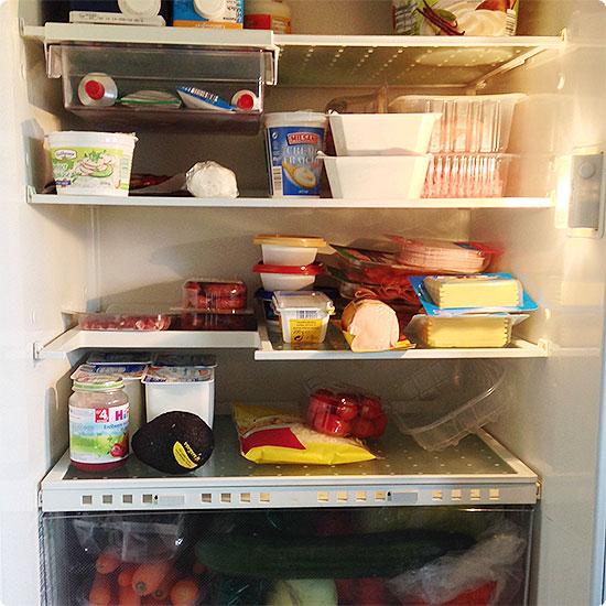 12 von 12 - September 2014 - der Kühlschrank ist wieder voll
