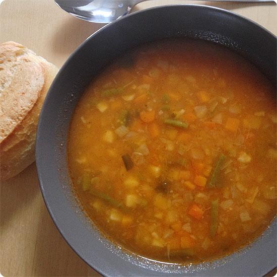 12 von 12 - April 2014 - lecker Suppe