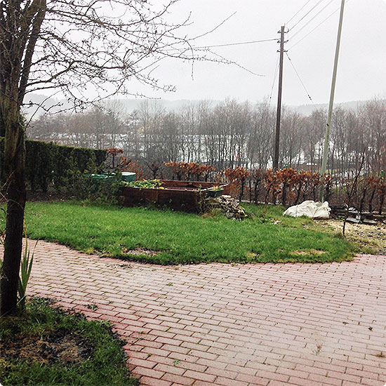12 von 12 - Dezember 2014 - Garten - nass - Regen