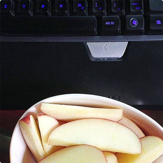 12 von 12 - September 2014 - Snack, Apfelschnitten