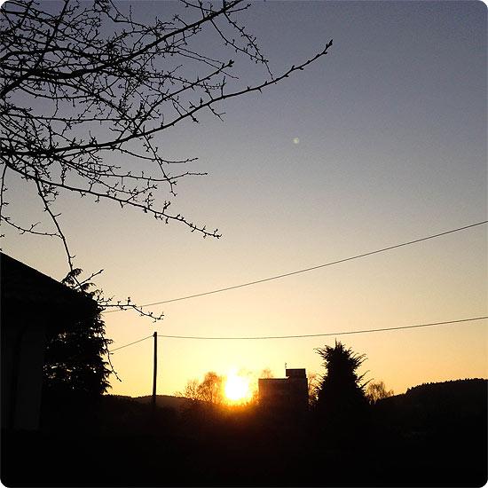 12 von 12 - März 2014 - Sonnenuntergang