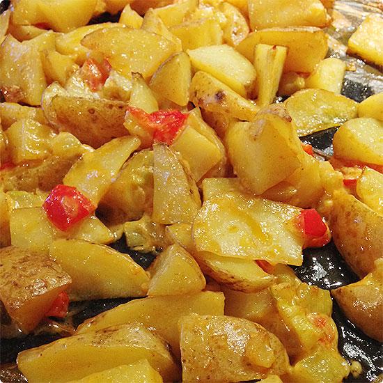12 von 12 - Januar 2015 - Ofengemüse als Resteessen