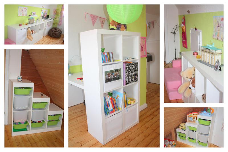 Kinderzimmer nachher - neue Regale - Möbelschwede - alles zusammen