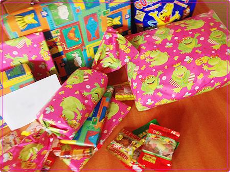 9. Geburtstag - Geschenke - verpackt