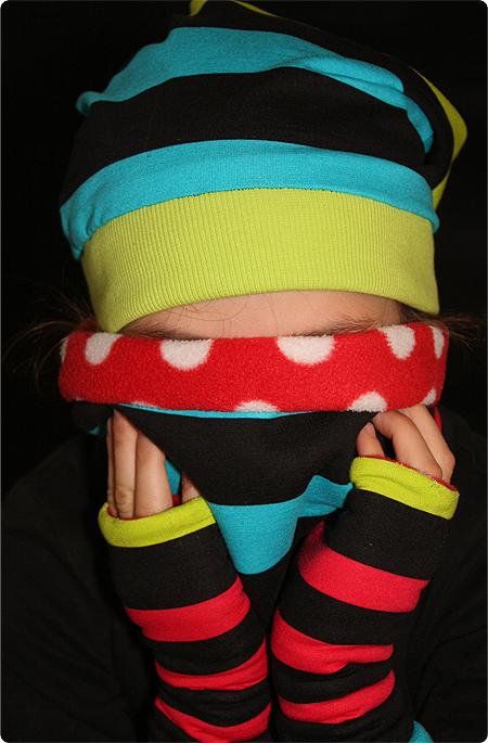 Nähen - Loop - Wendeloop - Kinder - Kind - warm - Wendestulpen - Beanie