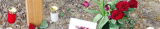 Jahresrückblick - April 2014 - Beerdigung - Freitod - Unfallort