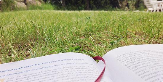 Sommerwetter im Frühling - Garten - lernen - draußen