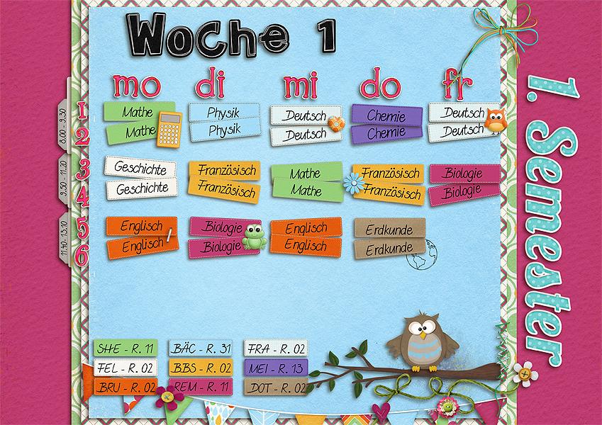 Stundenplan - Semester 1 - Woche 1
