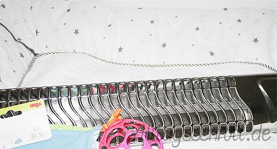 Schwanger - Maibaby 2015 - Wickelunterlage gekauft - Frottee - Spielzeug - Wärmelampe