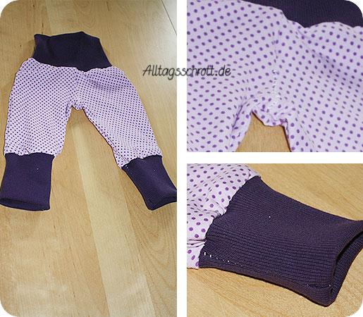 Hose für Babys - Frida - lila gepunktet - Knickerbocker