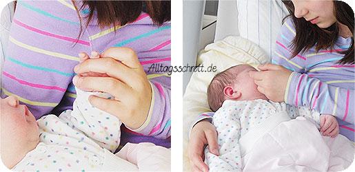 Wochenbett - die große und die kleine Tochter