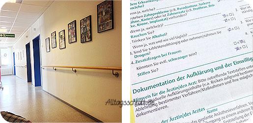 Geburtsbericht - Krankenhausflur - PDA-Aufklärung