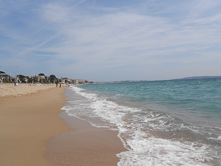 Sandstrand in Cannes