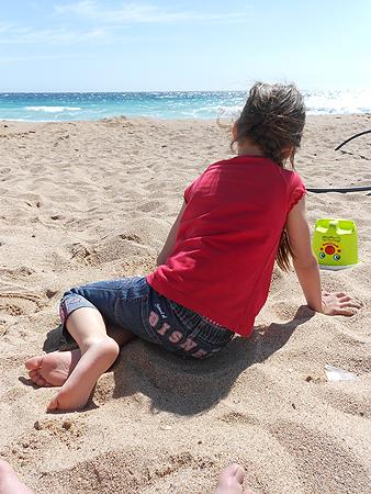 die Prinzessin im Sand