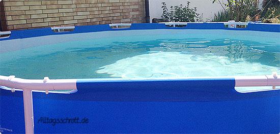 Wochenende in Bildern - der Pool ist bereit
