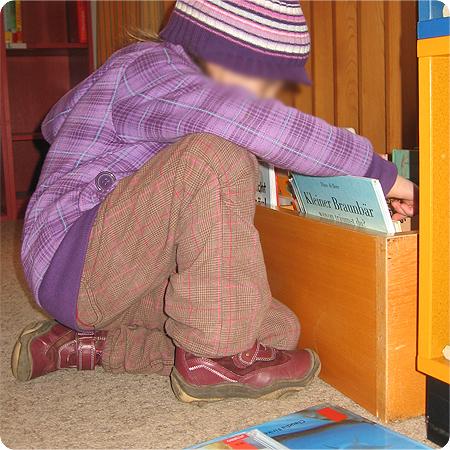 Die Prinzessin in der Bücherei - Bücherwurm - Leseratte
