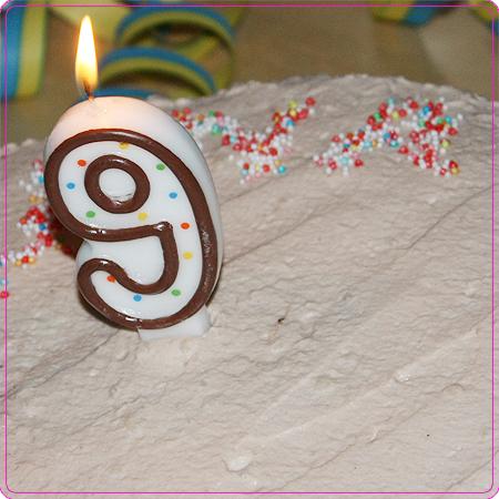 9. Geburtstag - Geburtstagstorte