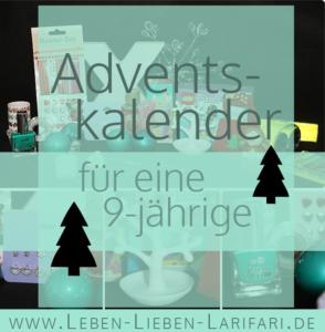 Adventskalender – Ideen für eine 9-jährige