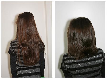 Haare abgeschnitten - vorher - nachher - Kind - Entscheidung
