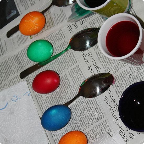 7 Tage - 7 Bilder   KW#16   Eier färben