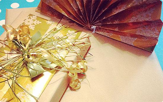 Geschenke sind verpackt - Weihnachten 2014