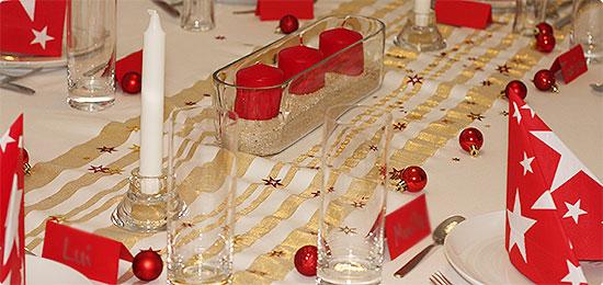 Weihnachten 2014 - Tischdeko - rot/gold/weiß