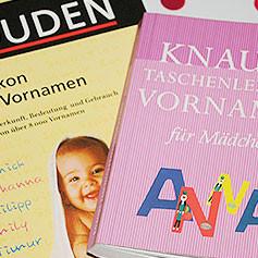 Nomen est Omen - Namensbücher für die Entscheidung zum Namen des Babys