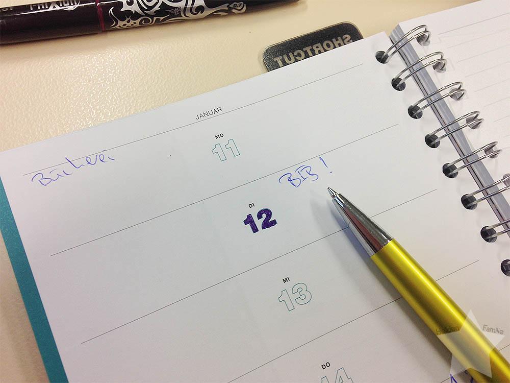 12 von 12 - Januar - Kalender