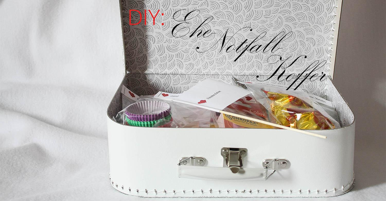 diy geschenk zur hochzeit ehe notfall koffer schnell einfach. Black Bedroom Furniture Sets. Home Design Ideas