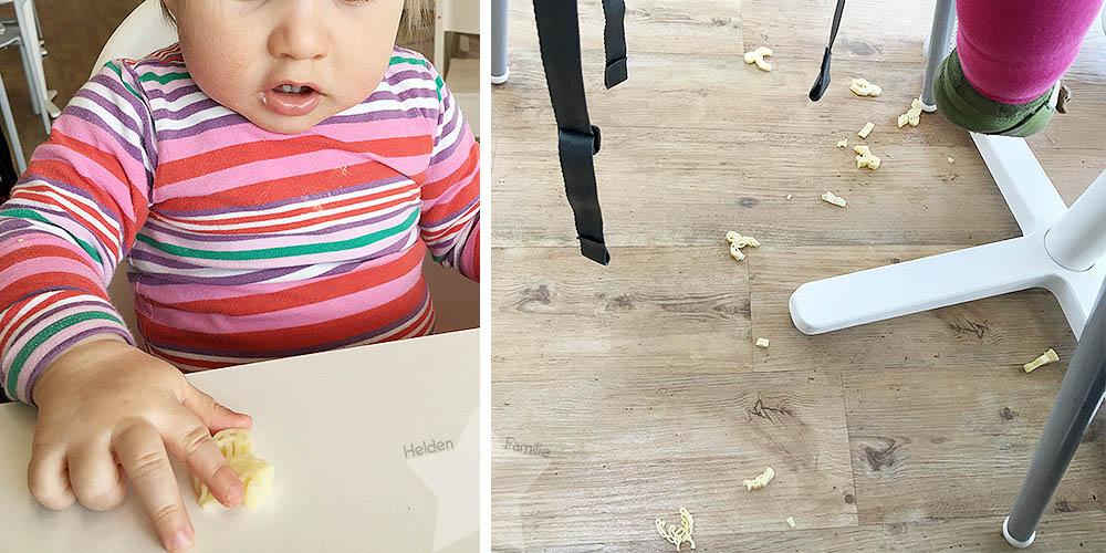 Das Baby und der Pasta-Teller bei IKEA - www.helden-familie.de