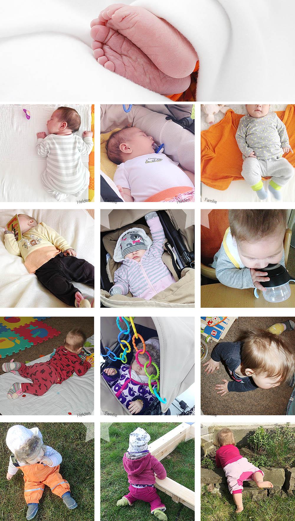 1 Jahr Baby - Babyzeit - Rückblick - 12 Monate
