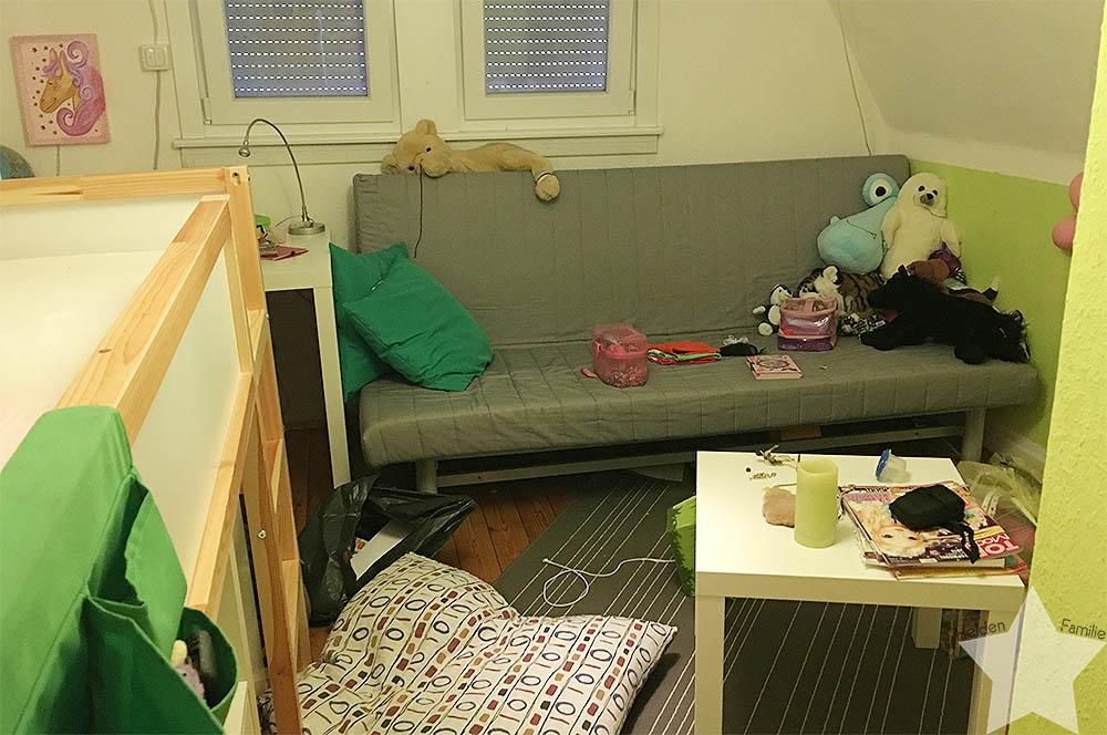 Wochenende in Bildern - pubertäre Tochter sortiert und mistet ihr Zimmer aus