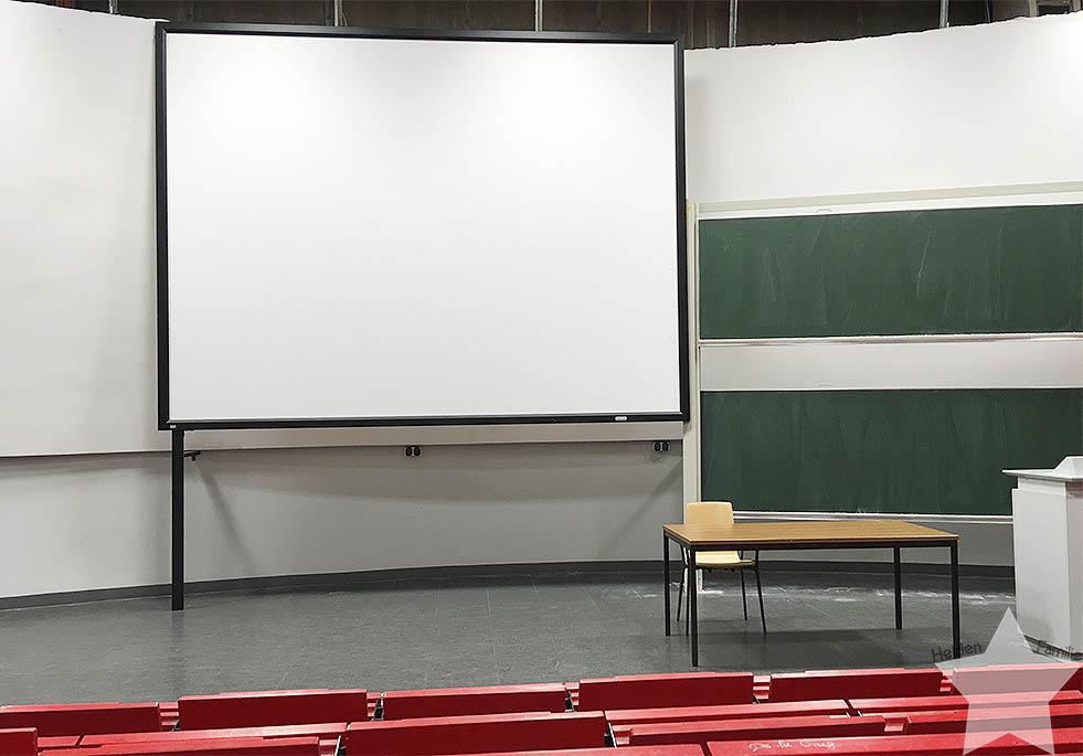 12 von 12 - Mai 2016 - Vorlesungssaal leer