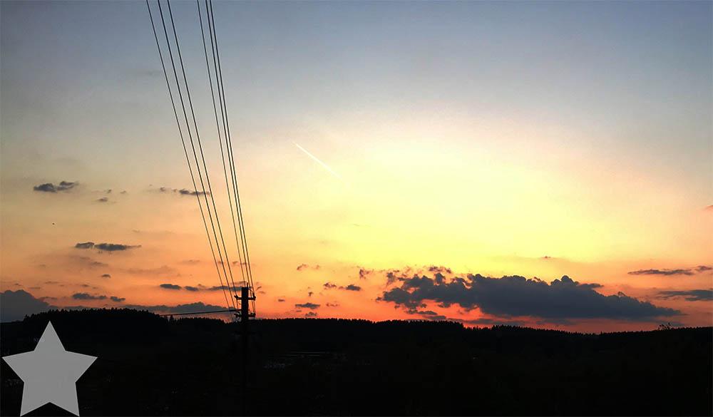 12 von 12 - Mai 2016 - Sonnenuntergang