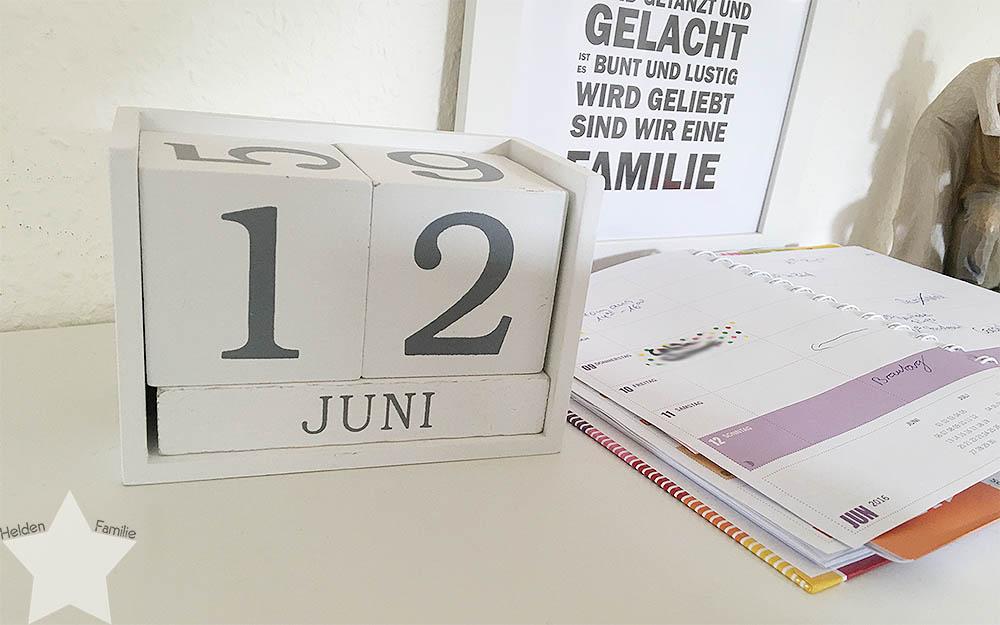 12 von 12 im Juni - Kalender