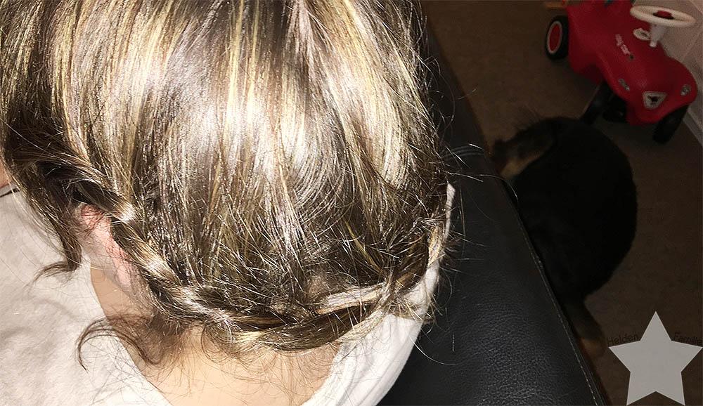 Wochenende in Bildern - Kurze Haare eingeflochten