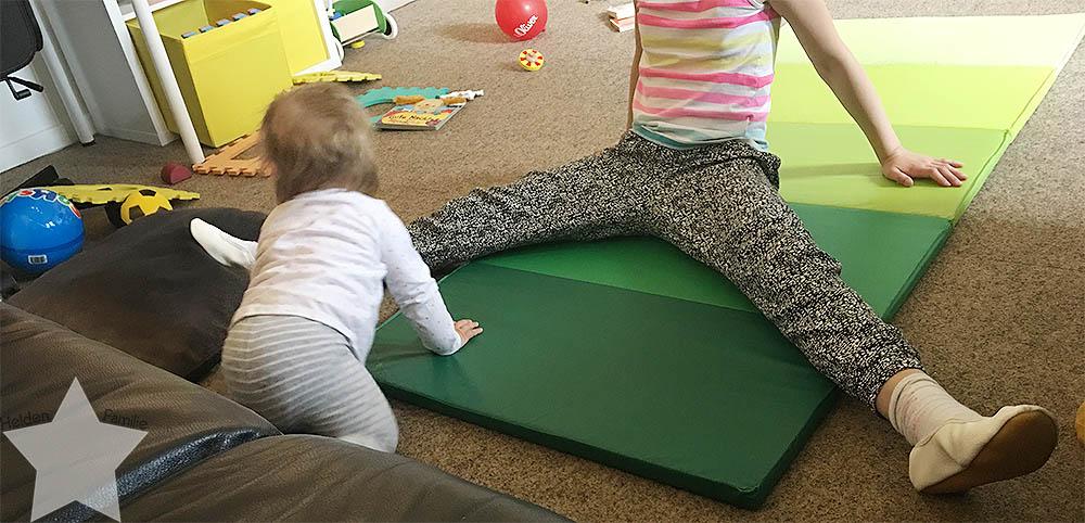 Wochenende in Bildern - Turnen mit Baby
