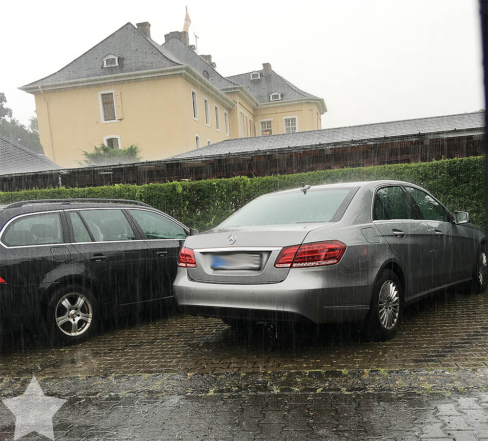 Wochenende in Bildern - pinke Hochzeit -  Starkregen