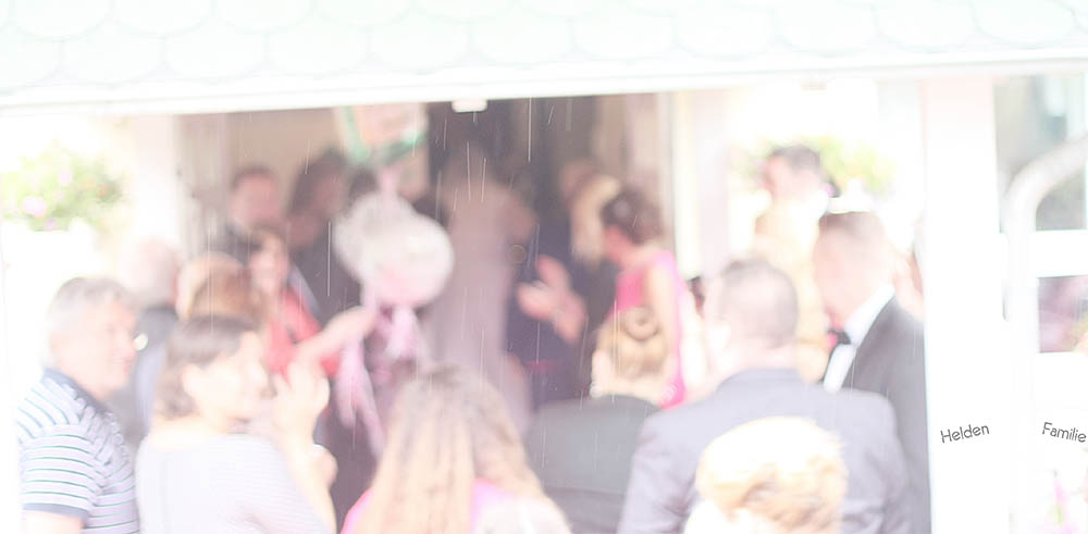 Wochenende in Bildern - pinke Hochzeit - Empfang zur Hochzeit
