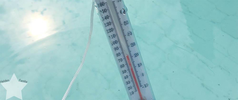 Wochenende in Bildern - pinke Hochzeit - Wassertemperatur im Pool