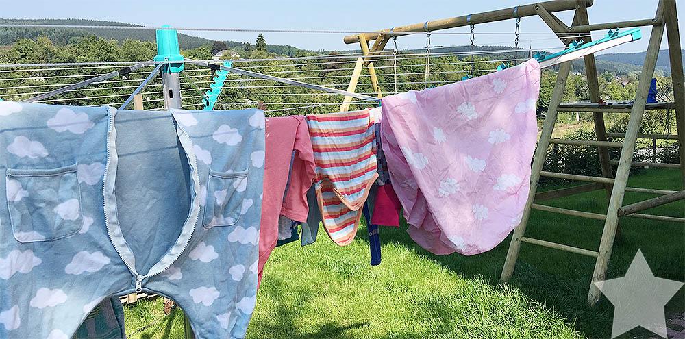After Wedding Alltag - 12von12 September 2016 - Wäsche auf der Wäschespinne