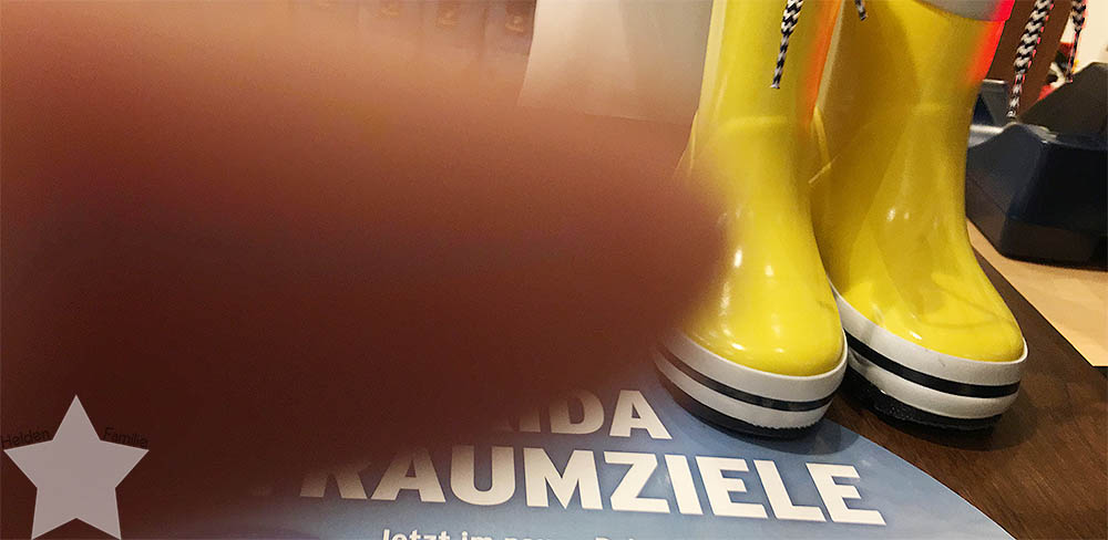Wochenende in Bildern - Schuhkauf und Baby-Basar - Gummistiefel zurück geben