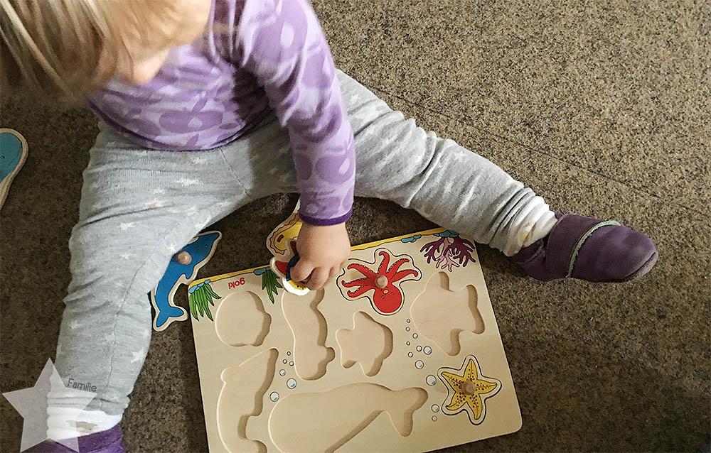 Wochenende in Bildern - Schuhkauf und Baby-Basar - Puzzle für Kleinstkind