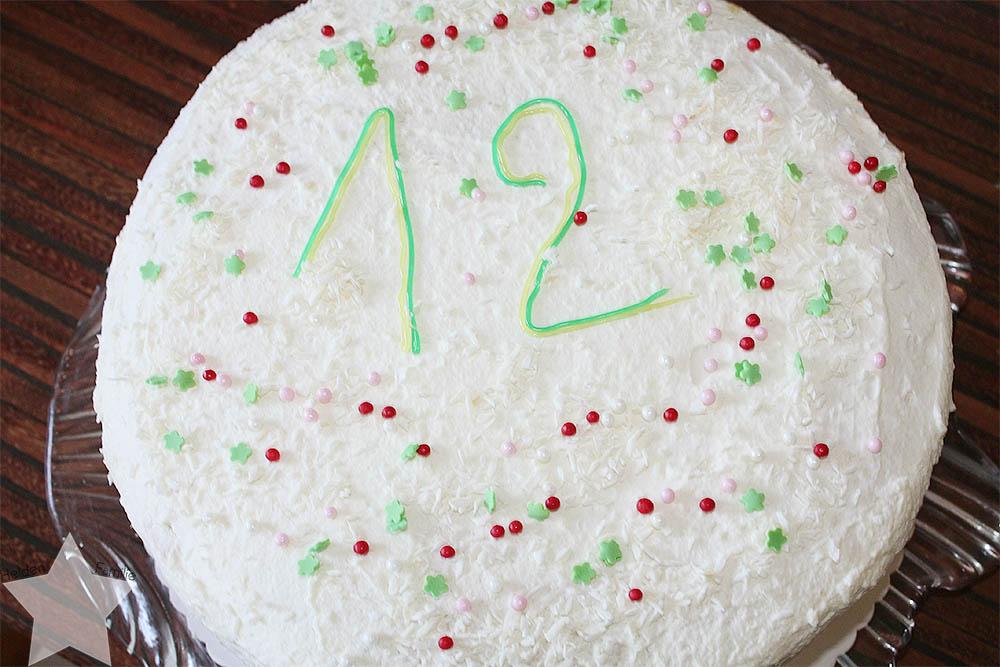 Wochenende in Bildern - 12. Geburtstag - Torte fertig dekoriert