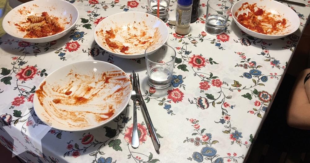 Wochenende in Bildern - Fahrt nach Italien - Abendessen im Ferienhaus