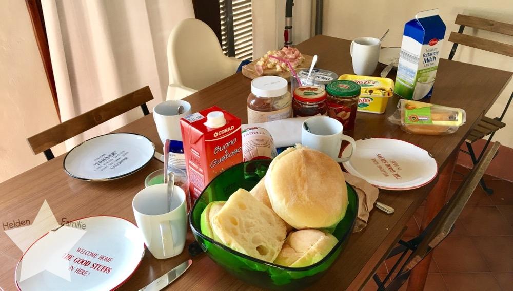 Wochenende in Bildern - Urlaub in Ligurien - Frühstück