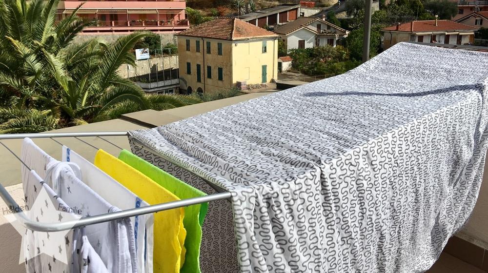 Wochenende in Bildern - Urlaub in Ligurien - Wäsche waschen im Ferienhaus