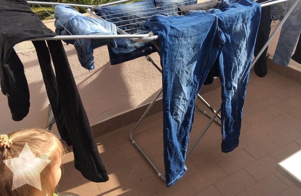 Wochenende in Bildern - Urlaub in Ligurien - Wäsche waschen im Urlaub