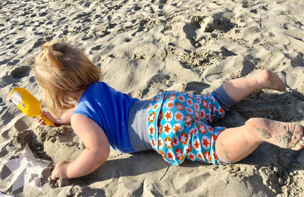 Wochenende in Bildern - Urlaub in Ligurien - Kleinkind im Sand