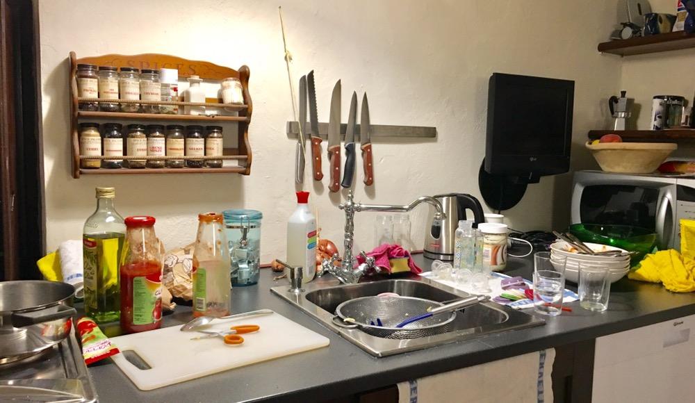 Wochenende in Bildern - Urlaub in Ligurien - Küche im Ferienhaus
